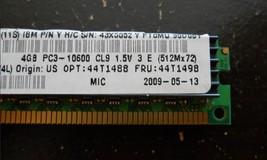 44T1498 IBM 4GB (1X4GB) 2RX4 PC3-10600R VLP MEMORY MODULE 43X5052 44T1488 NEW