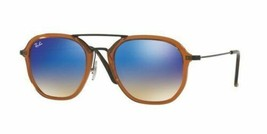 Ray Ban Sunglasses RB4273 6258/8B Brown Blue Flash Gradient Plastic Men Square - $108.89