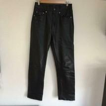 Schott Black Leather Pants Men's Size 30 Straight Silhouette Vintage 90'... - $294.00