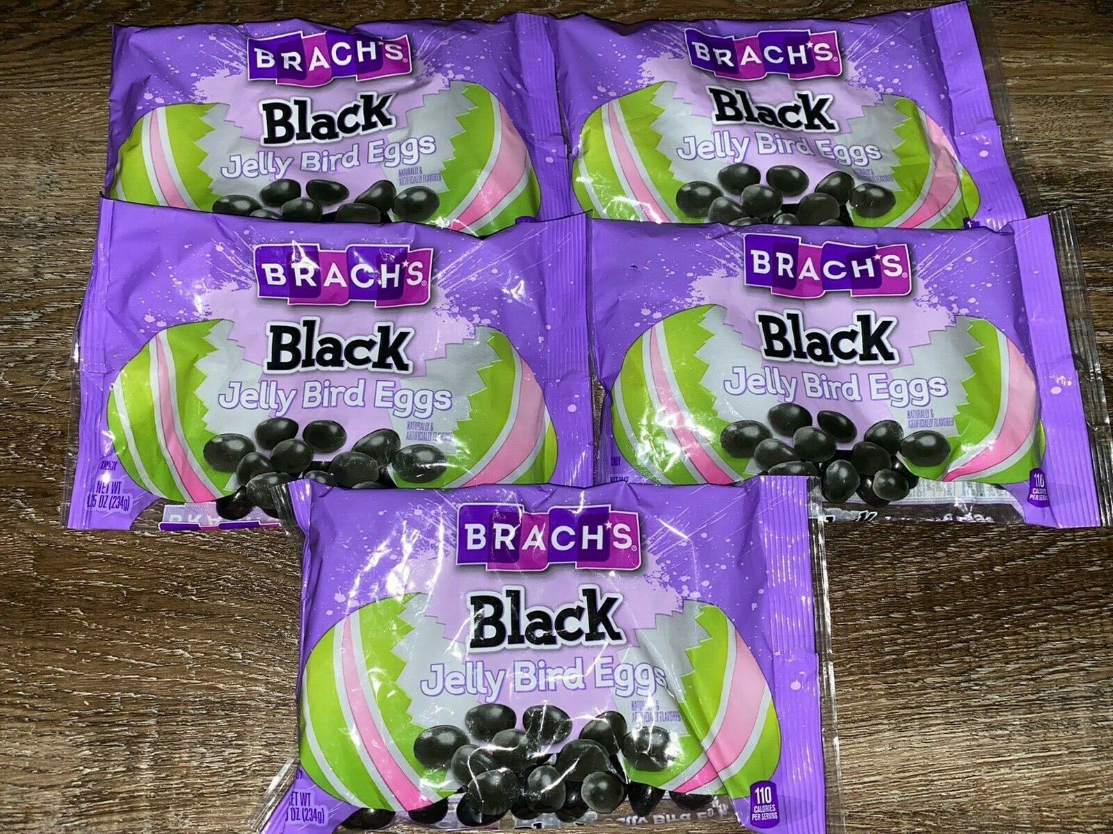 Primary image for Brachs ~ Black Jelly Beans Easter Bird Egg Candy 5-Bags 8.25 oz Each 01/26/2022