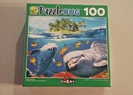 PuzzleBug Cra-Z-Art Playful Dolphins School of Fish Jigsaw Puzzle 100 Pi... - $9.89