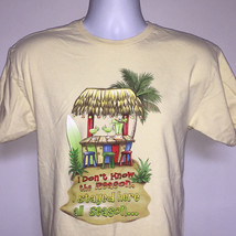 Mens Margaritaville Las Vegas t shirt medium Wastin Away Again Blender D... - $21.73