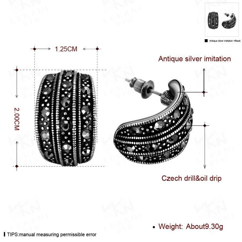 TANGKA 2017 new European and American high-grade tin alloy leaves earrings bakin image 2