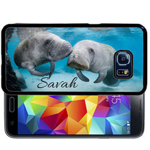 Personalized Rubber Case For Samsung S9 S8 S7 S6 S5 Plus Manatee Nature Animal - $13.98
