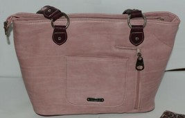 Montana West Collection MW669G 8317 Large Faux Leather Pink Conceal Carry Purse image 2