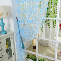2pcs Scarf Sheer Voile door window curtains drape panel valance fit Rod ... - $16.19