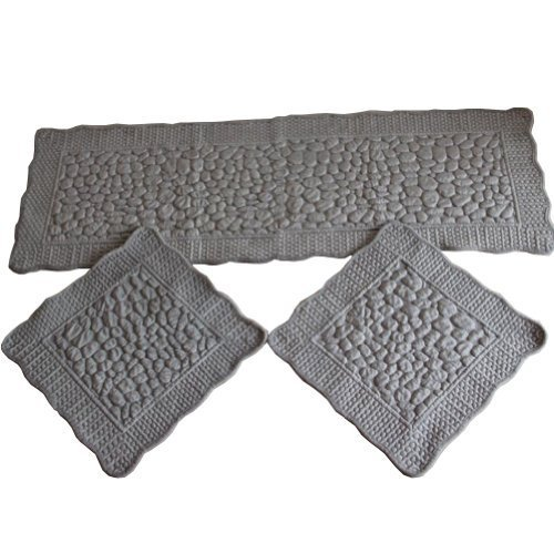 Set of 3 Plush Seat Cushions/General Car Cushion/Sofa Cushion,GRAY