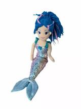 "Aurora Sea Sparkles Mermaid Rainbow  Shimmer 12"" Plush Doll Blue Yarn Hair - $14.84"