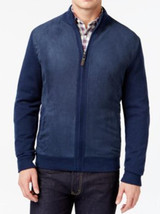 Tasso Elba Men's Navy Htr Faux Suede Inside Fleece Cardigan Knit Sweater... - $865,77 MXN