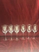 Crystal wine Glasses VINTAGE lot 6 Glass Regency WEDGEWOOD flared water ... - $79.19