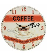 "Wall Clock 13"" Paris Cafe Coffee Shop Vintage Style Shabby Chic Farmhouse - $29.00"