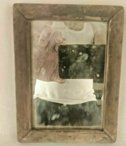 VINTAGE OLD WOODEN FRAMED MAKE-UP MIRROR / SHAVING/ DRESSING MIRROR INDI... - $29.40