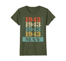 Funny Shirts - Retro Classic Vintage May 1943 75th Birthday Gift 75 yrs old Wowe image 2
