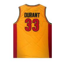 Kevin Durant #33 Oak Hill High School Basketball Jerseys Orange Stitched - $33.00