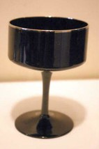 "Lenox Crystal Venture Black Champagne Glass New With Tags 5"" - $11.69"