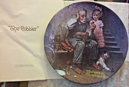 "Bradford Knowles China Plate: Rockwell Heritage Collection ""The Cobbler""... - £12.03 GBP"
