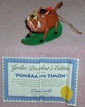 Disney - Lion King - Timon -  Pumba - pig -  President's Edition - $39.99