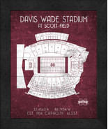 "Mississippi State David Wade ""Retro"" Stadium Seating Chart 13x16 Framed ... - $39.95"