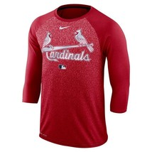 Men's Nike St Louis Cardinals Authentic Collection 3/4  Shirt Sizes Small-2XL - $13.99
