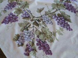 """True Vintage Printed Cotton Tablecloth Purple Grapes Arbor Fruit Vine 58"""" - $37.11"""