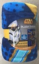 "Disney Star Wars Very Soft & Large Blanket For Kids,100% Polyester 46"" x... - $12.19"