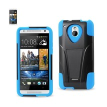 REIKO HTC ONE MINI M4 HYBRID HEAVY DUTY CASE WITH KICKSTAND IN NAVY BLACK - $7.35