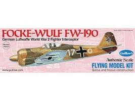 Guillow's Flying Balsa Wood Model Airplane Kit, WWII Folke-Wulf Fw 190  ... - $16.34