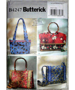 Handbags Soft Tote Bags Quilted Four Shape Sizes Sewing Pattern Butteric... - $10.00