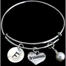Personalized Bridesmaid Bracelet, Bridesmaid Bangle,bridesmaid jewelry, - $14.50