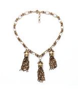Jewelry Unique Women Brass Vintage Gold Korean Chain Tassel Pendants Nec... - $62.07