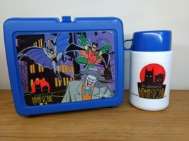1995 The Adventures of Batman and Robin Thermos Lunch Box Set Pre-owned - $19.80