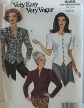 Vogue Sewing Pattern 8488 Misses Top Size 8 10 12 - $15.47