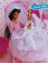 "4X Barbie 11-1/2"" Doll Victorian Bride Wedding Gown Cake Veil Crochet Pattern image 5"