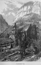 TENNESSEE Mountain Range Cumberland Gap - 1883 German Print - $16.20