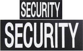 SECURITY Patches Hook Back - 1 Large & 1 Small Patch for Vests or Jackets - $8.99