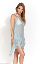 NWT SOLD OUT EVERYWHERE Hero Crane Big Braid Tunic Cover Up in Blue sz XS - $31.18
