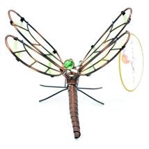 Dragonfly with Glow in the Dark Wing Pot Edge Sitter on Hook Garden Decoration image 4