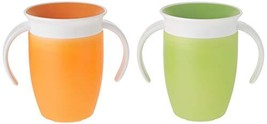 Munchkin Miracle 360 Trainer Cup, Green/Orange, 7 Ounce, 2 Count - $15.56