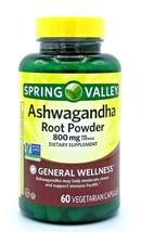 Spring Valley Ashwagandha Root Powder 800mg  60 Vegetarian Capsules Exp 2022 - $15.64