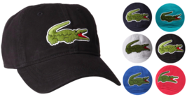 Lacoste Men's Classic Gabardine Premium Cotton Big Croc Logo Adjustable Hat Cap image 1