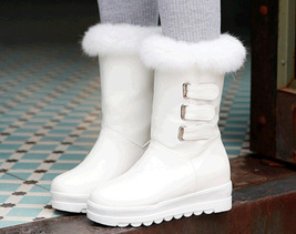 PB183 awesome pointy wedge booties, hair top,, US Size 4-10.5, white - $68.80