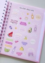SOLD OUT LMTD ED GLOW RECIPE GLOW Diary with Avocado Pineapple Banana Samples image 6