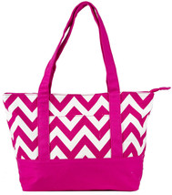 Chevron Large Canvas Large Tote Bag Luggage Carry On Striped Stripe Zig ... - $18.03