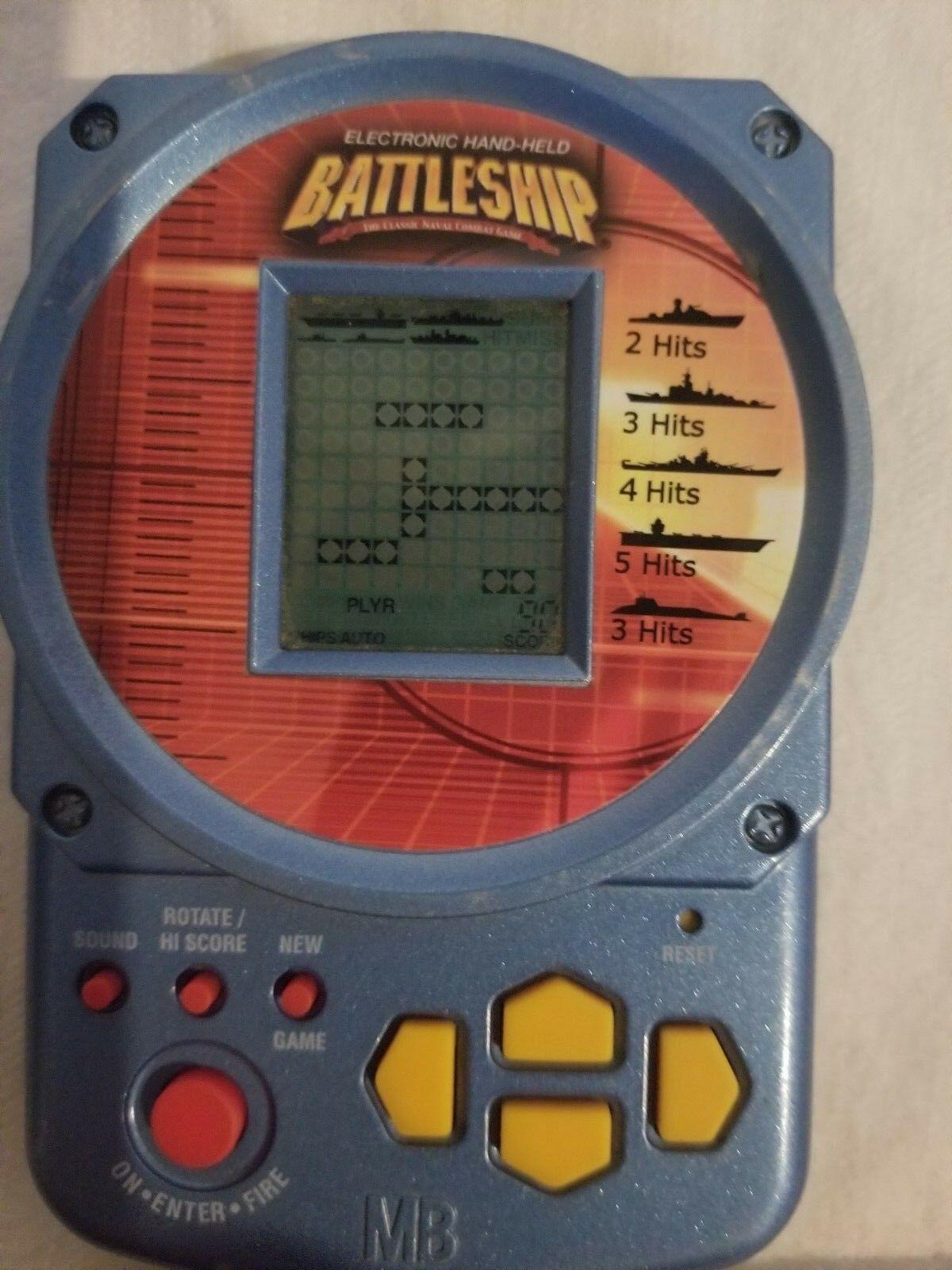 Battleship handheld electronic game
