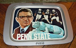 VTG 1977 Penn State Football Coca Cola Joe Paterno Serving Tray Nittany ... - $34.64