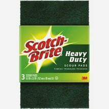 Scotch-Brite SCOUR PADS 3 ct All-Purpose Heavy Duty Absorbent Kitchen 22... - $9.65