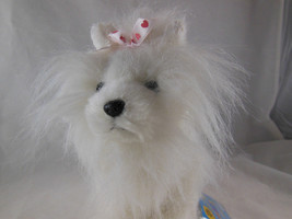 """Ganz Webkinz White and Pink Yorkie Terrier Puppy Dog Plush 8"""" with org t... - $9.89"""