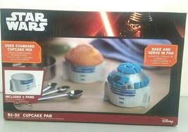 Think Geek Disney Star Wars R2-D2 Cupcake Pan 4 Molds Microwave Dishwash... - $17.45