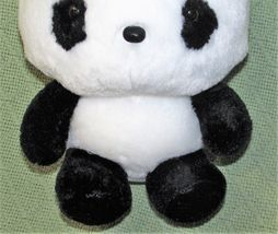 "ANIME PANDA Plush Japanese Stuffed Animal DOll Toy Black White RED BOW 9"" Baby  image 3"