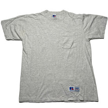 Vintage 90s Russell Athletic High Cotton Gray Pocket T Shirt Size XL Usa... - £17.94 GBP